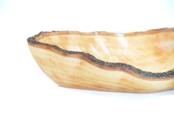 schaal schors, houten schaal, schaal natuurvorm