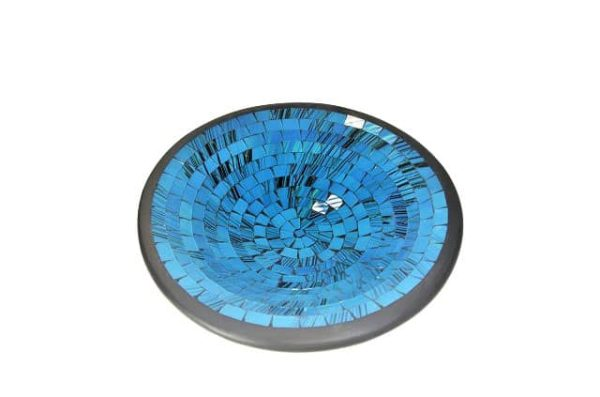 mozaiekschaal, turquoise schaal