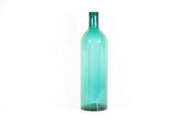 flesvaas, vaas fles, vaas blauw