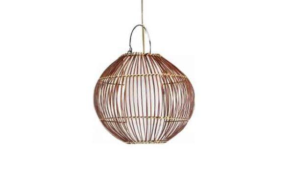hanglamp palmblad, hanglampbamboe, hanglamp