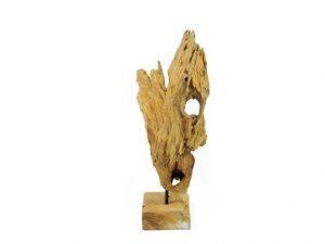 houtensculptuur, teakhouten, wortelhout