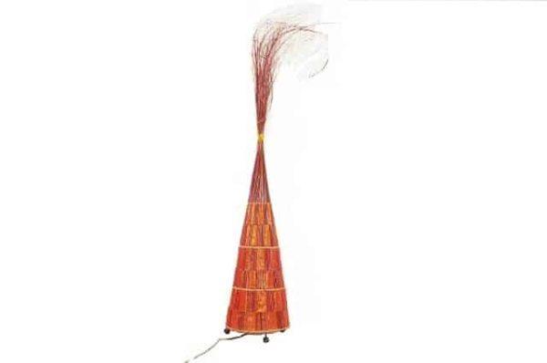sfeerlamp, decoratielamp kegel, staande lamp, lamp palmblad