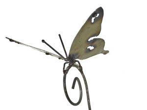 tuinsteker vlinder, metal art vlinder