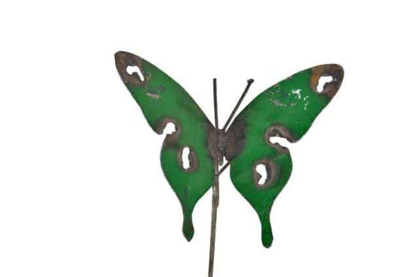 metal art vlinder, tuinsteker vlinder