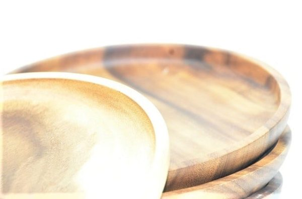 ontbijtbord, houten bord