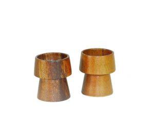 eierdopje, houten eierdop