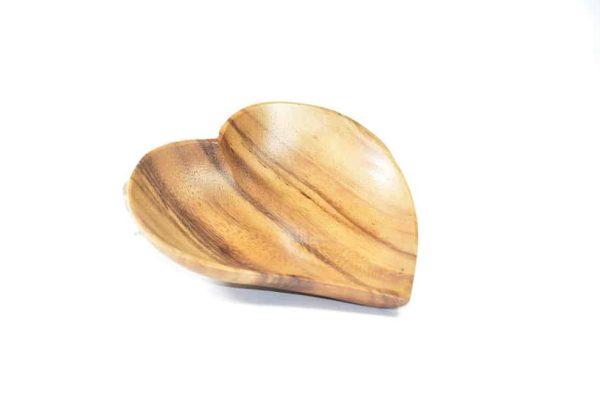 schaal hart, houten hart, bordje hartvorm