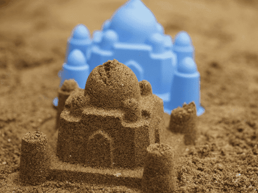 zandvorm taj mahal, zandvorm hape