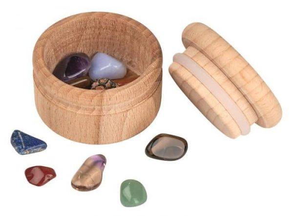 tandendoosje, houten tandendoosje