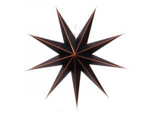 kerstster papier, only natural, ster zwart