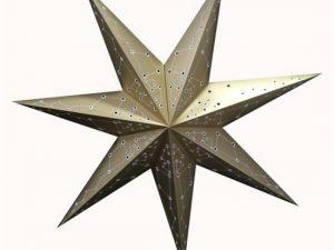 kerstster, gouden ster, paper star