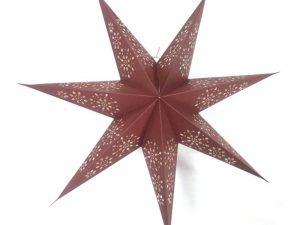 kerstster, kerstster verlichting, papieren ster