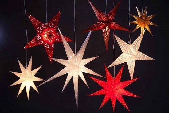 kerstster, paper star