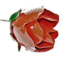 tuinsteker roos, roos, gerecycled metaal bloem