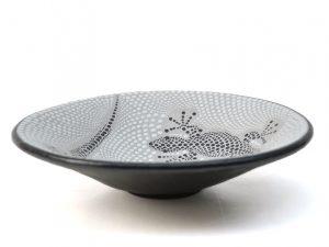 schaal gekko, aardewerk schaal, fruitschaal gekko