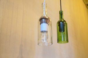 fleslamp, lamp gerecycled flesje, fairforward