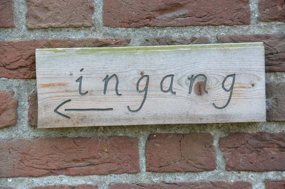 houten naambord