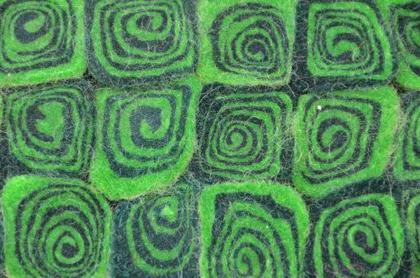 tafelonderzetter groen vilt