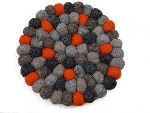 onderzetter pan vilt oranje grijs