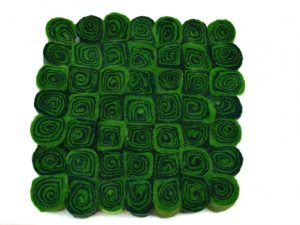 onderzetter tafel vilt groen