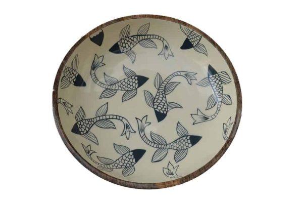 houten schaal vissen