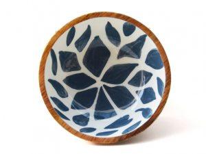blauw wit schaaltje hout