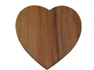 onderzetter houten hart