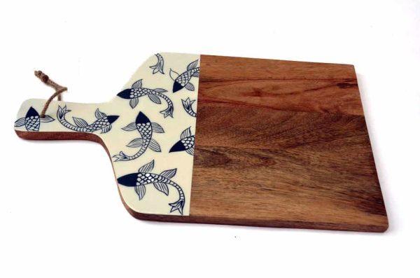 houten snijplank vissen