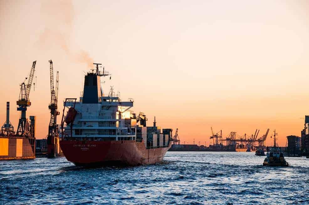 co2 uitstoot per containerschip