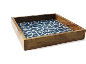 houten dienblad blauw wit only natural