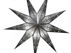 kerstster zilver glitter 60 cm