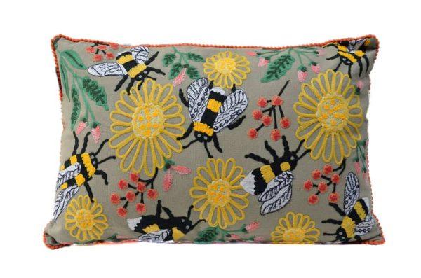 kussen only natural bijen