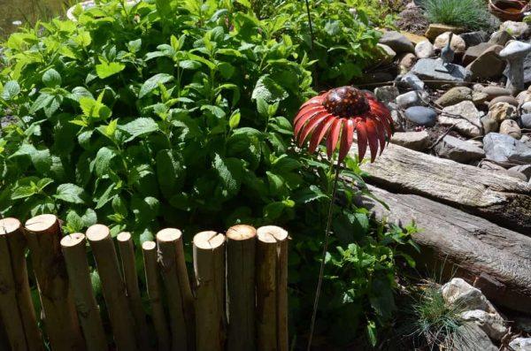 tuinsteker metalen grote bloem
