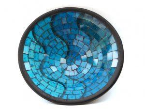 fruitschaal mozaiek blauw