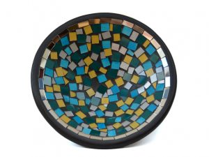 fruitschaal mozaiek en aardewerk